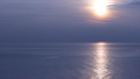 black sea dark blue sunset Stock Video Footage