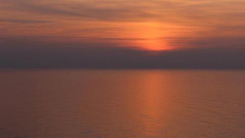 black sea orange sunset Stock Video Footage