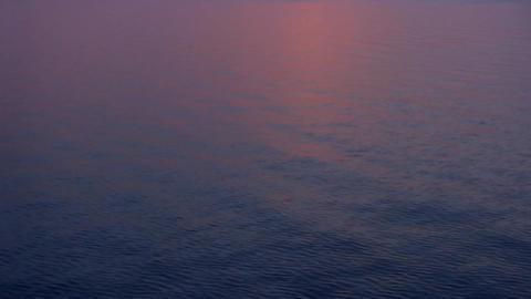 black sea purple sunset tilt Stock Video Footage