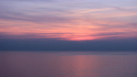Black Sea Purple Sunset Tilt stock footage