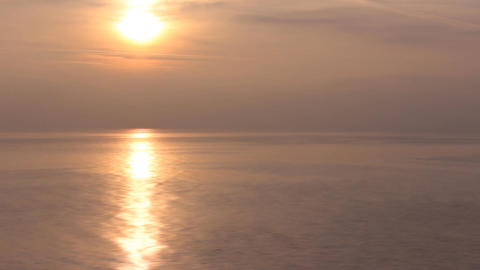black sea sunset Stock Video Footage