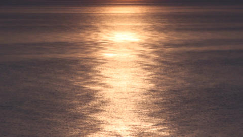 black sea warm light Stock Video Footage