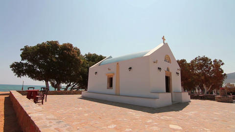 The Christian Church by the sea Footage