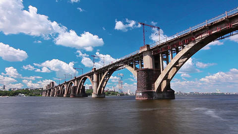 bridge over the river Stock Video Footage