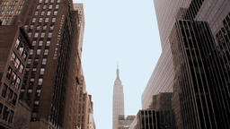 city urban. skyline skyscrapers.new york Stock Video Footage