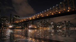 city bridge. skyline skyscrapers.new york Stock Video Footage