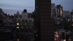 city at night. skyline skyscrapers. new york Stock Video Footage