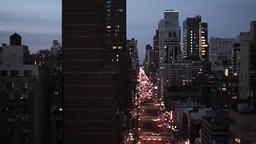 city at night. skyline skyscrapers. new york Stock Video Footage
