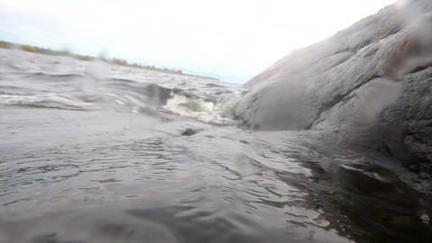 wave over water and underwater Stock Video Footage