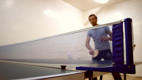ping-pong b Stock Video Footage