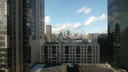 city. skyline skyscrapers.new york. aerial view Stock Video Footage