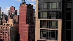 city skyline skyscrapers.new york. aerial view Stock Video Footage