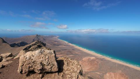 time lapse panorama view fuerteventura 11188 Stock Video Footage