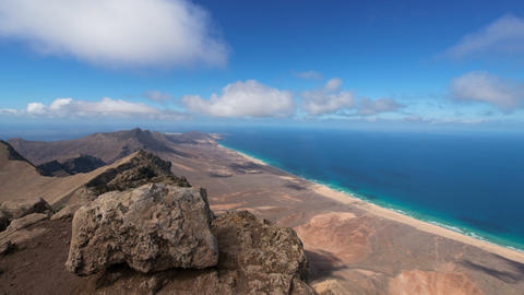 time lapse panorama view fuerteventura 11188 Footage
