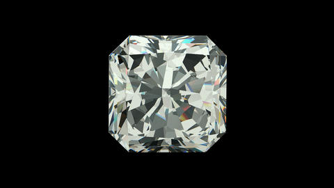 Radiant cut diamond Animation