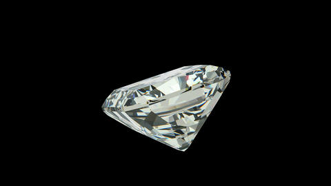 Radiant cut diamond Stock Video Footage