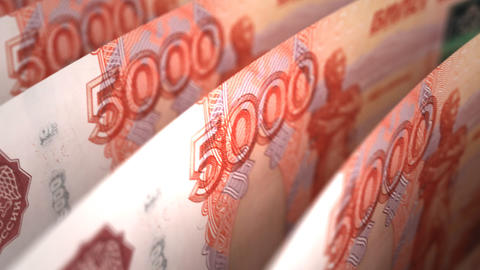 Ruble Close-up Stock Video Footage