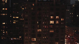 city night. urban district. street traffic Stock Video Footage