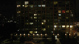 city at night. urban district. skyline Stock Video Footage