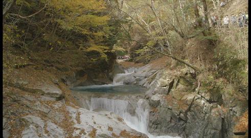 山梨県西沢渓谷 三重の滝 Stock Video Footage