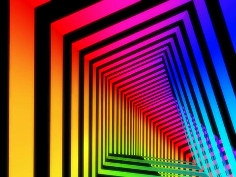 colorful stripe tunnel Stock Video Footage