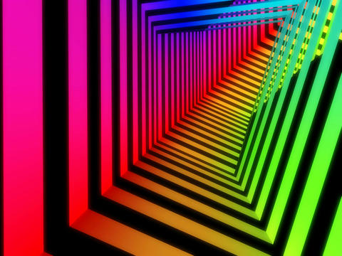 colorful stripe tunnel Animation