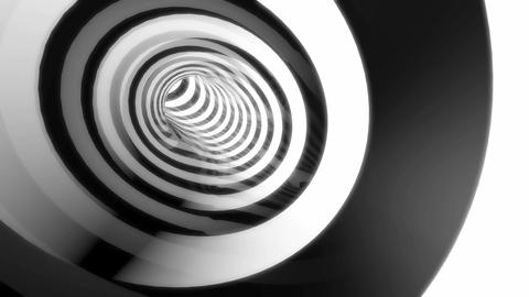 black white tunnel Stock Video Footage
