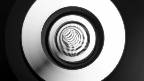 black white tunnel Animation