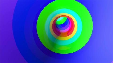 rainbow glossy tunnel Stock Video Footage