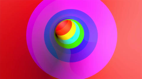 rainbow glossy tunnel Animation