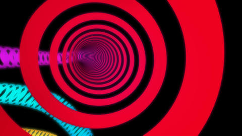 colorful rings tunnel Stock Video Footage