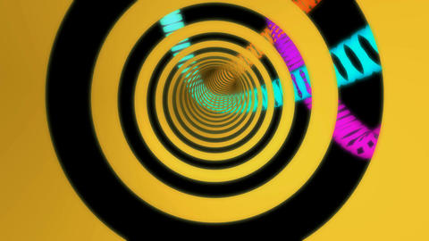 colorful rings tunnel Animation