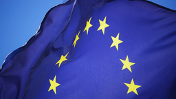 European Flag stock footage