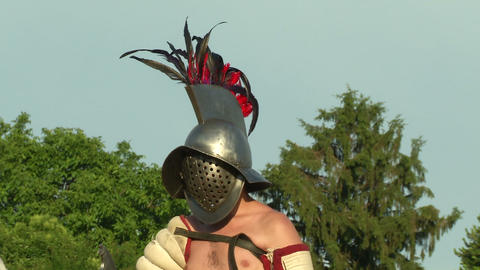 gladiator close up Hoplomachus 01 Footage
