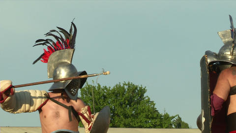 gladiator game Hoplomachus Thraex 03 Footage
