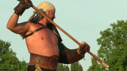 gladiator game Retiarius Secutor 03 Stock Video Footage