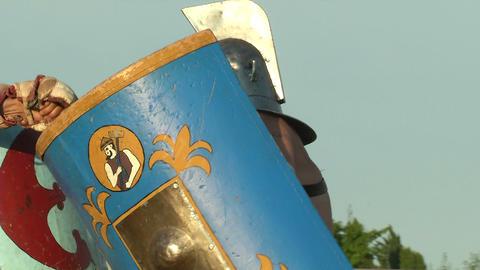 gladiator game Thraex Murmillo 01 Stock Video Footage