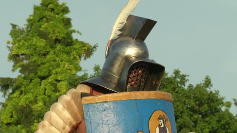 gladiator game Thraex Murmillo 03 Stock Video Footage