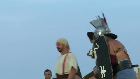 gladiator munus Hoplomachus Thraex 02 Footage