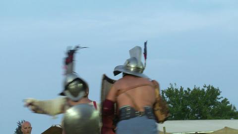 gladiator munus Hoplomachus Thraex 04 Footage