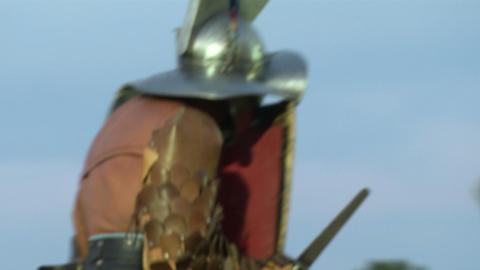 gladiator munus Hoplomachus Thraex 10 Stock Video Footage