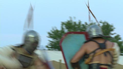gladiator munus Secutor Secutor 02 Stock Video Footage