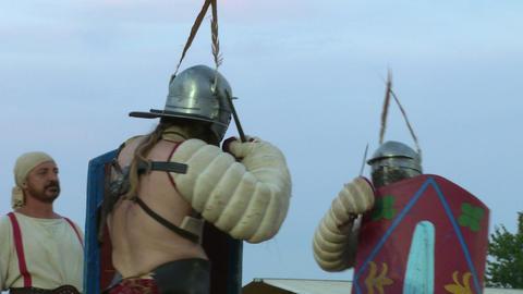 gladiator munus Secutor Secutor 04 Stock Video Footage