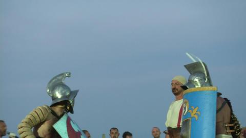 gladiator munus Thraex Murmillo 03 Stock Video Footage