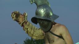 gladiator munus Thraex Murmillo 05 Stock Video Footage