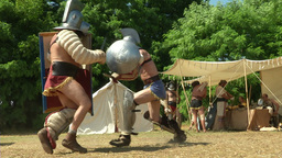 gladiator training Hoplomachus Thraex 04 Footage