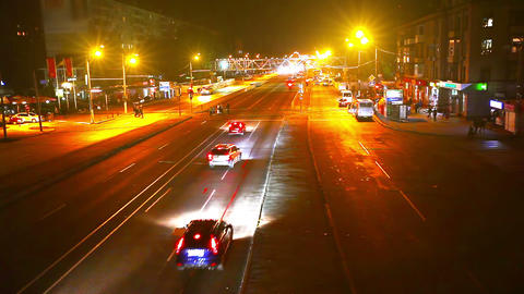 timelapse traffic of the city at night Footage