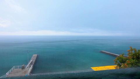 rain at sea Stock Video Footage