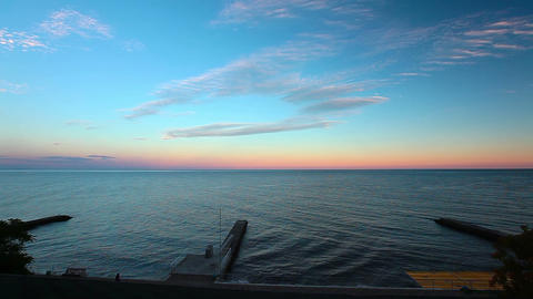 sunset and sea Stock Video Footage