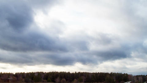 Clouds quickly rush on the sky. Time Lapse Stock Video Footage